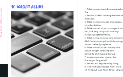 Sepuluh Wasiat Allah